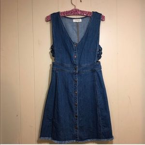 PACSUN jean dress with buttons all the way down